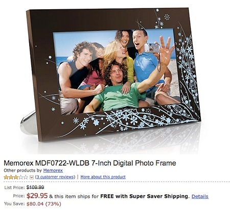 Deal of the Day 7-Inch Digital Photo Frame