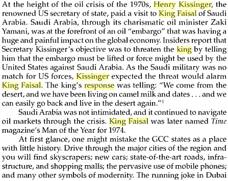 King Faisal & Henry Kissinger 2