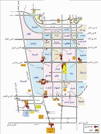 Kuwait Traffic Diversion Map small